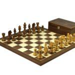 Executive Range Wooden Chess Set Walnut Board 20″ Weighted Sheesham German Staunton Pieces 3.75″