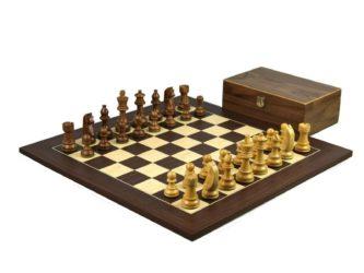 Executive Range Wooden Chess Set Macassar Board 20″ Weighted Sheesham German Staunton Pieces 3.75″