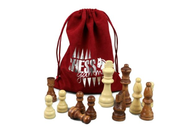 ashwood wooden chess pieces
