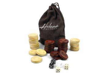"Helena Backgammon Pieces ""Wooden"" – 35 mm"