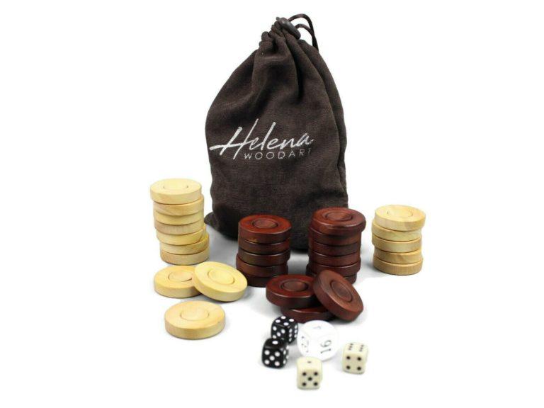 helena wooden backgammon pieces