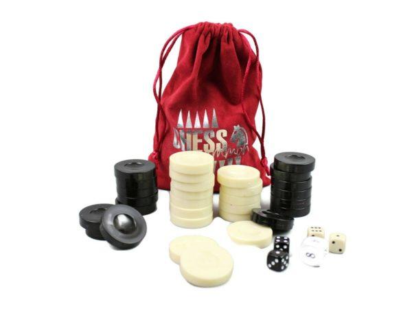 acrylic backgammon pieces 35 mm