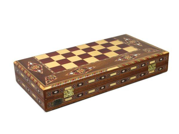wooden backgammon set premium