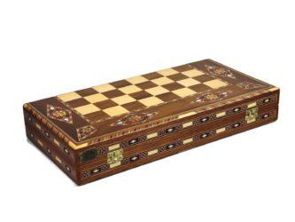 "Premium Range Backgammon Set ""Marbella"" – WW17″"