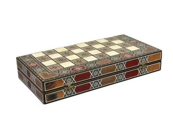wooden backgammon set paramount