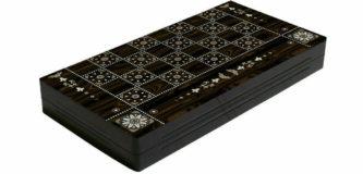 "Classic Range Backgammon Set ""Pearl""- 15″"