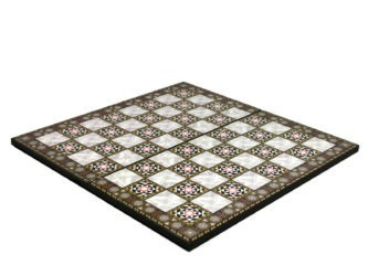 """Classic Range Wooden Flat Chess Board – """"Mother of Pearl""""- 14″"""