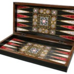 "Classic Range Backgammon Set ""Mother of Pearl""- 17″"