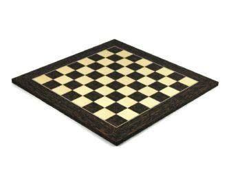 "Executive Range Chess Board ""Tiger Ebony & Maple"" – 20″"