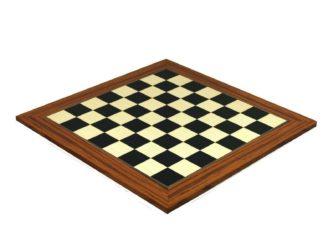 "Executive Range Chess Board ""Palisander & Maple"" – 20″"