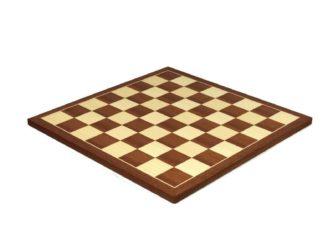 """Executive Range Chess Board """"Mahogany & Maple"""" – 21″"""