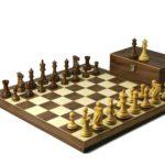 Executive Range Wooden Chess Set Walnut Board 20″ Weighted Sheesham Professional Staunton Pieces 3.75″