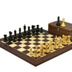 Executive Range Wooden Chess Set Macassar Board 20″ Weighted Ebonised Professional Staunton Chess Pieces 3.75″