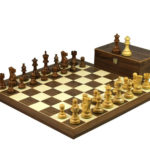 Executive Range Wooden Chess Set Walnut Board 20″ Weighted Sheesham Classic Staunton Pieces 3.75″
