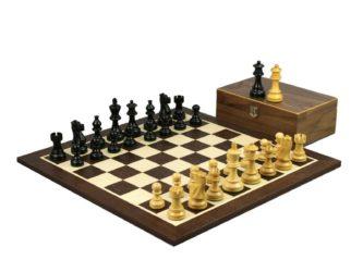 Master Range Wooden Wenge Chess Set 21″ Weighted Ebonised Classic Staunton Pieces 3.75″