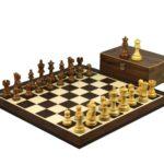 Master Range Wooden Chess Set Wenge Board 21″ Weighted Sheesham Classic Staunton Pieces 3.75″