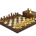 Executive Range Wooden Chess Set Macassar Board 20″ Weighted Sheesham Classic Staunton Pieces 3.75″