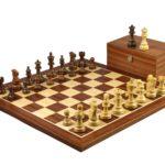 Executive Range Wooden Chess Set Mahogany Board 20″ Weighted Sheesham Classic Staunton Pieces 3.75″