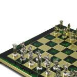 Metal Range Chess Set Emerald Green 15″ – 514G