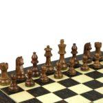 Executive Range Wooden Chess Set Tiger Ebony Board 20″ Weighted Sheesham German Staunton Pieces 3.75″