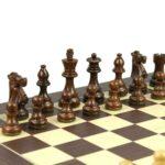 Executive Range Wooden Chess Set Macassar Board 20″ Weighted Sheesham Staunton French Knight Pieces 3.75″