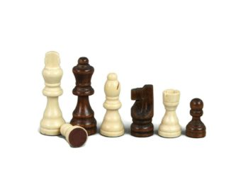 """Chess Pieces With Sliding Storage Box """"Wooden"""""""