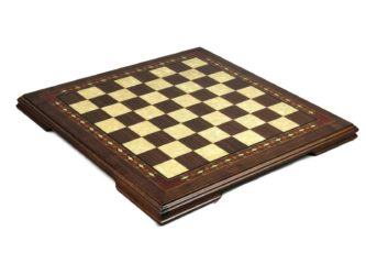 "Premium Range Helena Chess Board ""Walnut Wood""- 17″"
