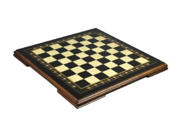 "Premium Range Helena Chess Board ""Charcoal Black Ebony"" – 23″"