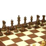 Executive Range Wooden Chess Set Mahogany Board 20″ Weighted Sheesham Professional Staunton Pieces 3.75″
