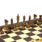 Executive Range Wooden Chess Set Macassar Board 20″ Weighted Sheesham Professional Staunton Pieces 3.75″