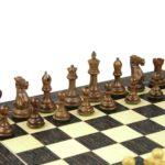 Executive Range Wooden Chess Set Tiger Ebony Board 20″ Weighted Sheesham Professional Staunton Pieces 3.75″