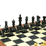 1884 Morphy Series Chess Pieces Professional Staunton Ebonised Boxwood 3.75″