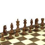 Economy Range Wooden Chess Set Walnut Board 16″ Weighted Sheesham German Staunton Pieces 3″
