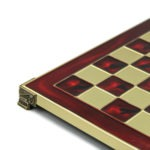 Metal Range Chess Set Ruby Red 18″ – 500R