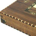 "Luxury Range Helena Backgammon Set ""Rural Walnut"" – 20″  2150"