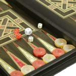 Leather Range Helena Briefcase Backgammon Set 20″