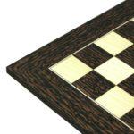 Executive Range Wooden Chess Set Tiger Ebony Board 20″ Weighted Ebonised German Staunton Pieces 3.75″