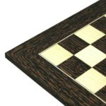 Executive Range Wooden Chess Set Tiger Ebony Board 20″ Weighted Ebonised Classic Staunton Pieces 3.75″