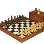 Executive Range Wooden Chess Set Palisander Board 20″ Weighted Sheesham Staunton French Knight Pieces 3.75″