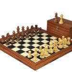 Executive Range Wooden Chess Set Palisander Board 20″ Weighted Sheesham German Staunton Pieces 3.75″