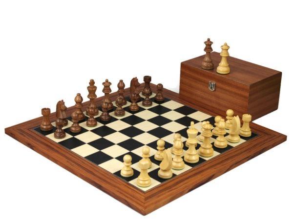 Palisander staunton chess set with german knight sheesham chess pieces