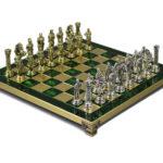 Metal Range Chess Set Emerald Green 13″ – 301G
