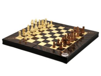 "Classic Range Chess & Backgammon Set ""Walnut""- 20″"