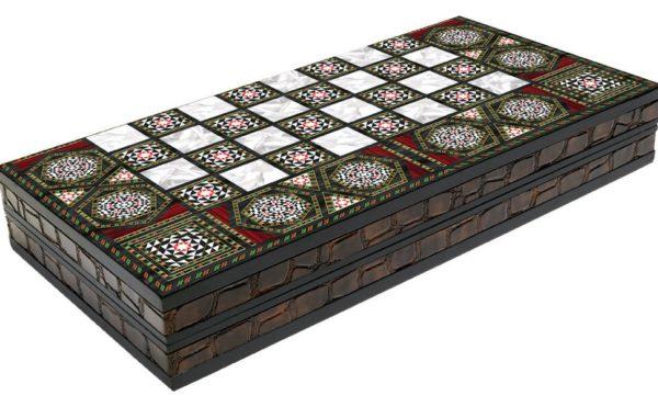 mother of pearl backgammon board