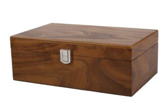 Chess Box Large Walnut With Metal Clasp 3.75″