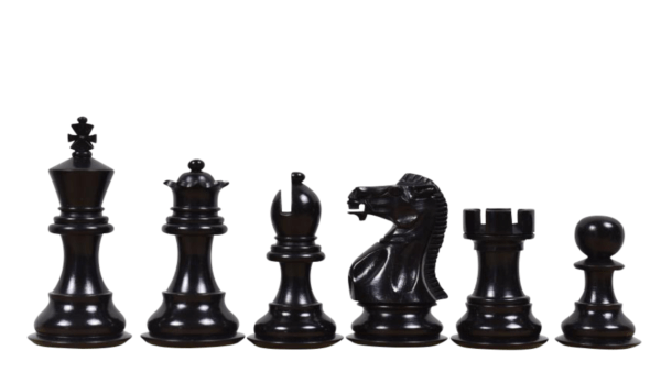 ebonised morphy series professional staunton chess pieces