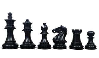 Fierce Knight Chess Pieces Staunton Ebonised Boxwood 3.75″