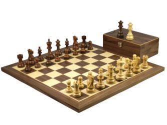 Master Range Wooden Chess Set Walnut Board 21″ Weighted Sheesham Atlantic Classic Staunton Pieces 3.75″