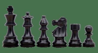 French Lardy Staunton Ebonised Boxwood 2.75″ Chess Pieces