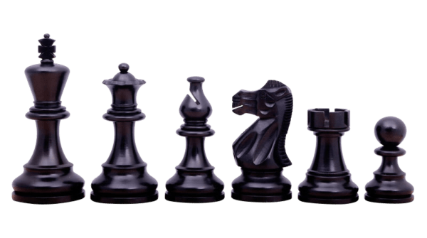 ebonised atlantis classic staunton chess pieces